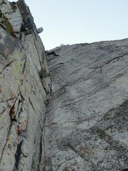 Rock Climbing Photo: Hospital corner lovers leap.