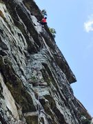 Rock Climbing Photo: Finding the roof holds