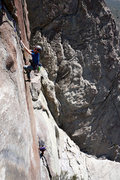 Rock Climbing Photo: Coming up Southern Rock Opera, 5.11d.  The amount ...