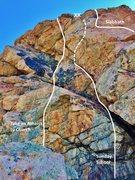 Rock Climbing Photo: Left side of Sunday Wall.