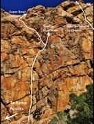 Rock Climbing Photo: Far left end of Sunday Wall.