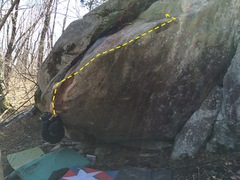 Rock Climbing Photo: Kristian Johnson at the start moves.