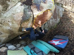 Rock Climbing Photo: Kristian Johnson on the start moves