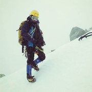 Rock Climbing Photo: Topout of Pinnacle. -50 degrees on New Years day.
