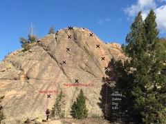Rock Climbing Photo: Slab of No Return topo.