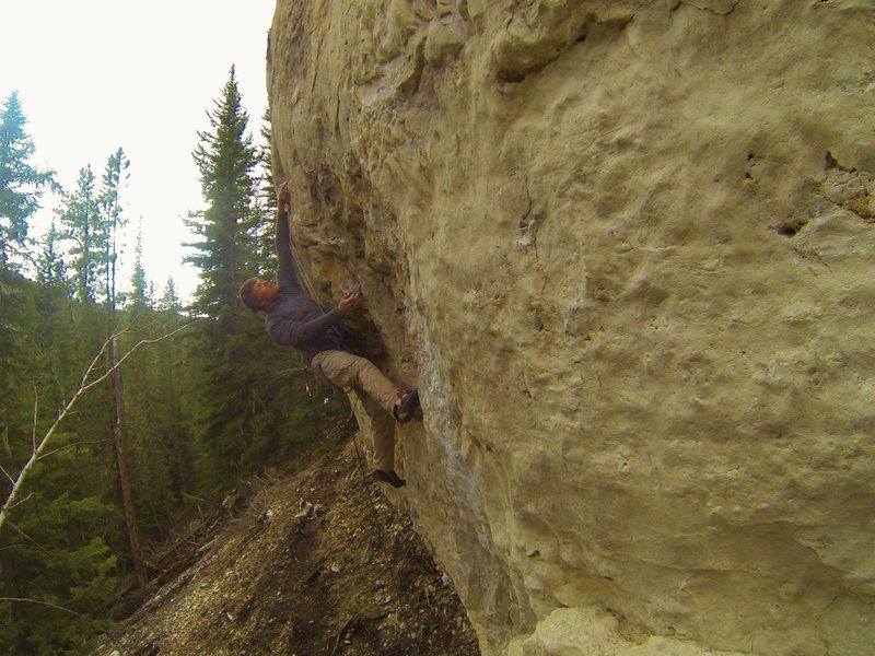 Rock Climbing Photo: Joel getting some pizza!