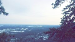 The view from the top of horseman made me happy I pushed myself to top out.