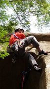 Rock Climbing Photo: Pulling the roof in p-way