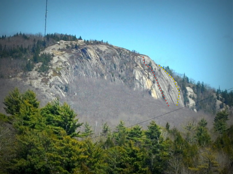 Rock Climbing Photo: Big Chick Hill from the Airline driving east.  Yel...