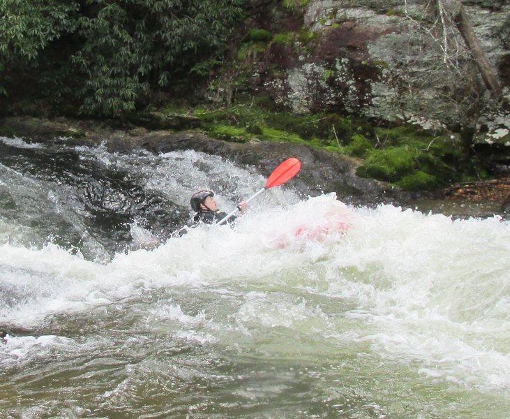 Jonah crashing thru Clear Creek Falls on the Cartecay River Ga.  spring 2015