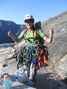 Rock Climbing Photo: Top of zodiac - much gear