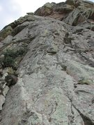 Rock Climbing Photo: View from the bottom of the route. The first bolt ...