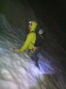 Rock Climbing Photo: Corey slogs through a snow patch en route back to ...