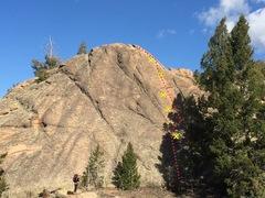 Rock Climbing Photo: Topo photo.