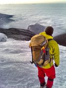 Rock Climbing Photo: Timmy headed down old bridal after climbing Lincol...