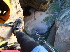 Rock Climbing Photo: The breathtaking Grotto from above on Tipped Out 2...