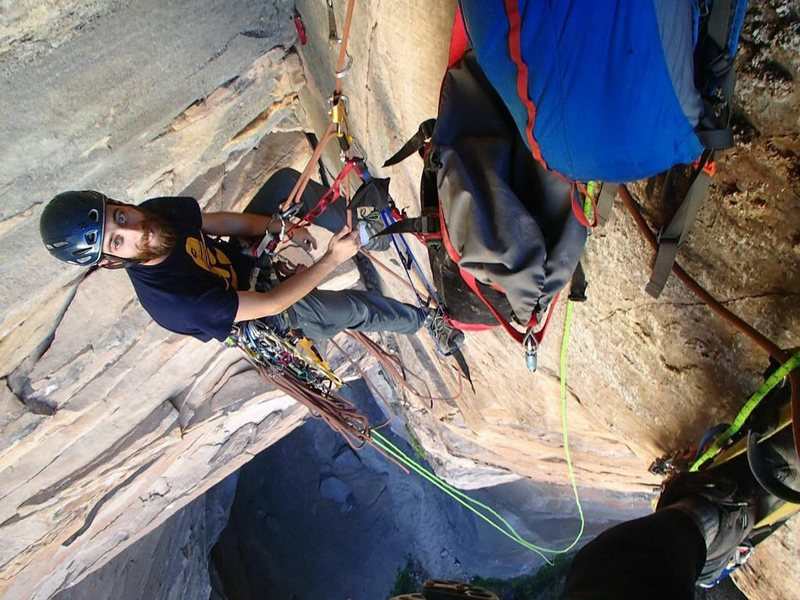 My trusted belayer Brian Stetson.