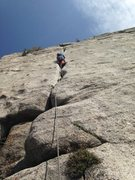 Rock Climbing Photo: Bomber feet and hand jams!