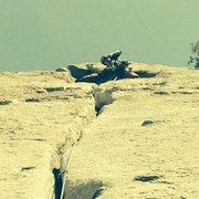 Rock Climbing Photo: Pluggin and chuggin