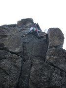 Rock Climbing Photo: fun stemming up high on the East Face of Piton Tow...