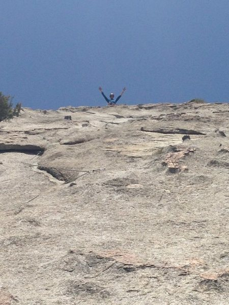 Rock Climbing Photo: Top o Wilson-Love!!