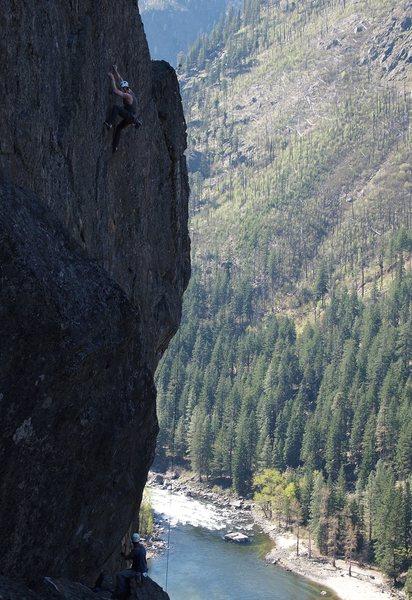 Rock Climbing Photo: Hutch on Early Archaelogist
