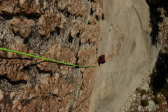 Rock Climbing Photo: Adam following the first pitch