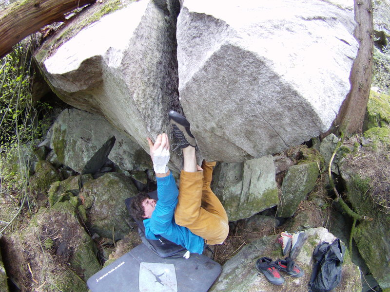 Marc Andre Leclerc on the second ascent of Trepanning