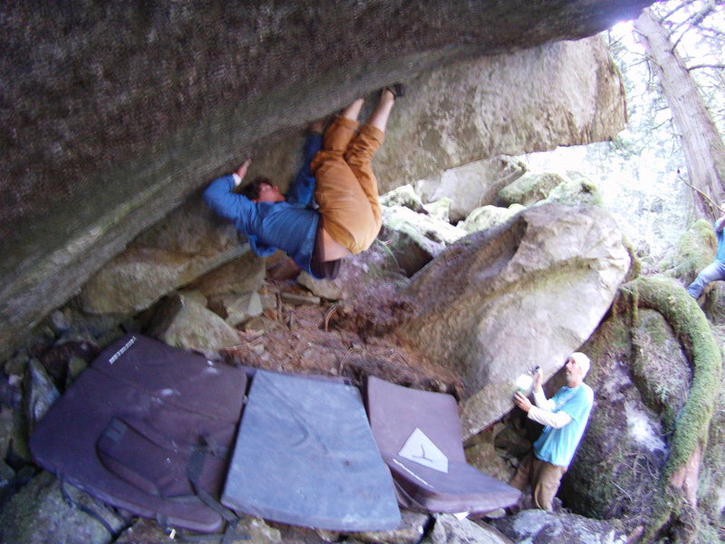 Rock Climbing Photo: Marc Andre Leclerc on the second ascent of 18