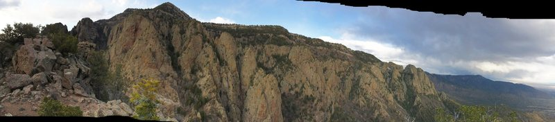 Rock Climbing Photo: Panoramic from summit of Hail Peak