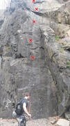 Rock Climbing Photo: The spray painted A and arrow make this climb easy...
