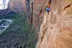 Rock Climbing Photo: Following pitch three. No ability to tension trave...