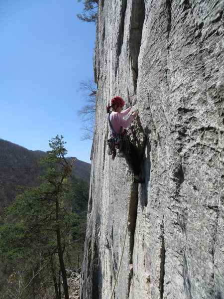 After the thin start on Conn's East Direct.  A very fun route.  Suggest taking Alcoa Presents to the summit.