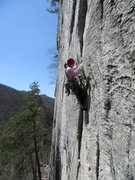 Rock Climbing Photo: After the thin start on Conn's East Direct.  A ver...