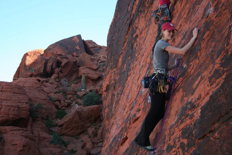 climbing at red rocks