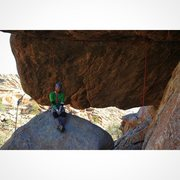 Rock Climbing Photo: Anthony Johnson attempting to work through the cru...