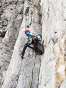 Rock Climbing Photo: Enjoying neck press, a fun, mellow climb.  My firs...