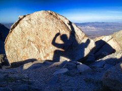 Rock Climbing Photo: Shadow Boxing at 12000'!