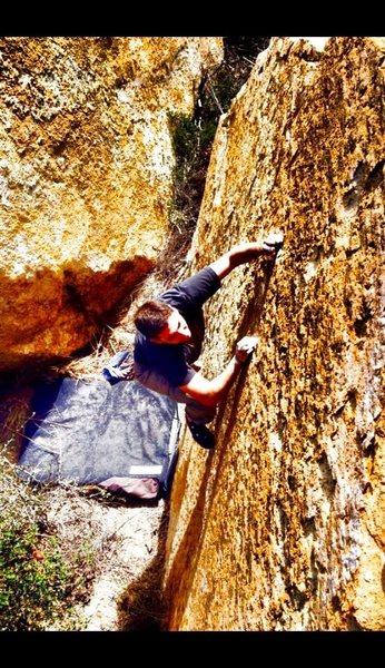Rock Climbing Photo: Gold Nubbins!