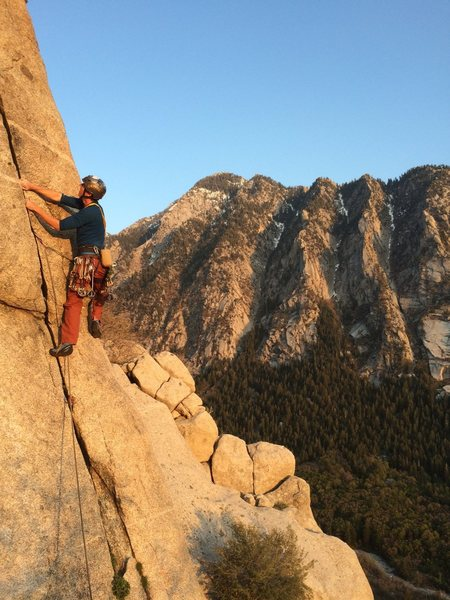 Rock Climbing Photo: Jivin' on a warm spring evening! (Photo by Tony La...