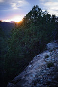 Rock Climbing Photo: Sunset top out, April '15.