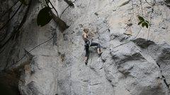 Rock Climbing Photo: Katie on Sadao