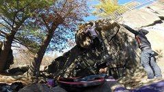 Rock Climbing Photo: Gunning for it!