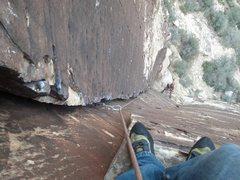 Rock Climbing Photo: Belaying p2.