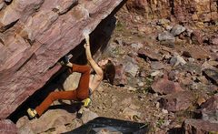 Rock Climbing Photo: Heel hooking action