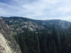 Rock Climbing Photo: Another stunning view at Bowman Atop climb #2