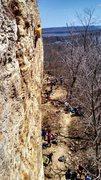 Rock Climbing Photo: Way up high!