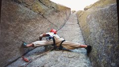 Rock Climbing Photo: The start of El Matador, Devil's Tower,WY 5.10d