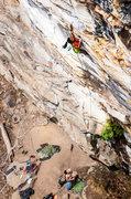 Rock Climbing Photo: Climbing the first half of Push