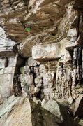 Rock Climbing Photo: Before crux #1